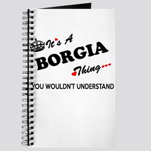 BORGIA thing, you wouldn't understand Journal