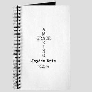 Amazing Grace Cross Custom Personalized Journal