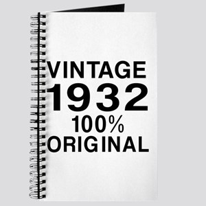 Vintage 1932 Birthday Designs Journal