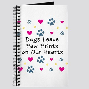 Dogs Leave Paw Prints Journal