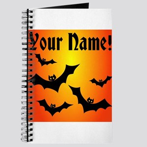 Personalized Halloween Bats Journal