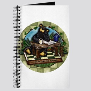 Coffee Drinking Bear Journal
