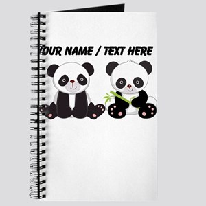 Custom Cute Pandas Journal