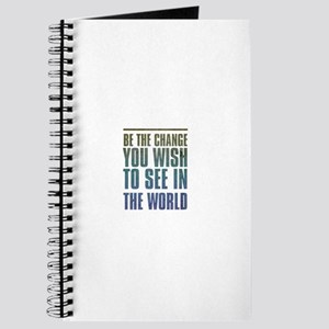Be the Change you wish to see in the World Journal