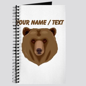 Custom Brown Grizzly Bear Journal