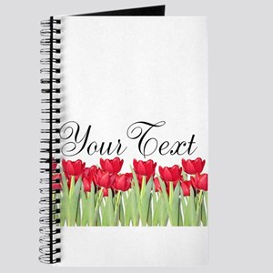 Personalizable Red Tulips Journal