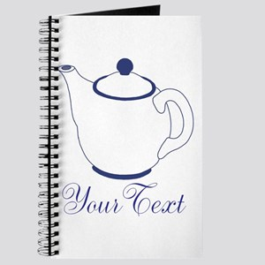 Personalizable Blue Tea Pot Journal