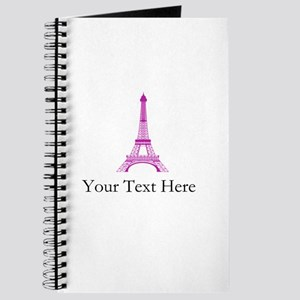 Personalizable Pink Black Eiffel Tower Journal