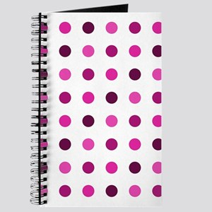 Pink & Purple, Tricolor: Polka Dots Patter Journal