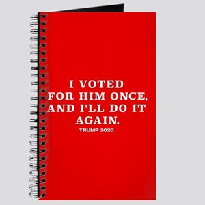 Trump 2020 - Vote For Him Again Journal
