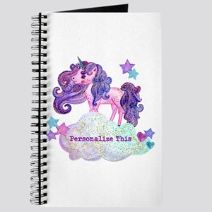 Cute Personalized Unicorn Journal