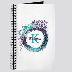 Boho Floral Wreath Monogram Journal