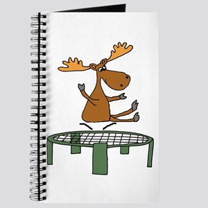 Funny Moose on Trampoline Journal