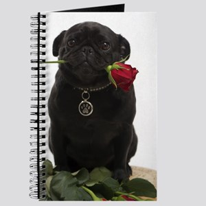 Cute Black Pug Journal