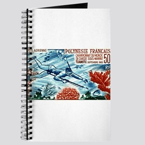 1965 French Polynesia Spearfishing Postage Stamp J