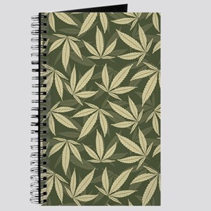 Marijuana Leaf Pattern Journal