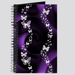 Purple Butterfly Swirl Journal