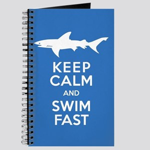 Keep Calm, Swim Fast Shark Alert Journal
