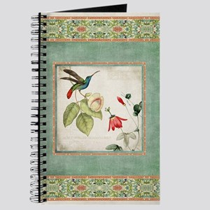 Chinoiserie Hummingbird n Exotic Floral Vi Journal