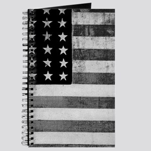 American Vintage Flag Black and White hori Journal