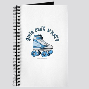 Light Blue Roller Derby Skate Journal
