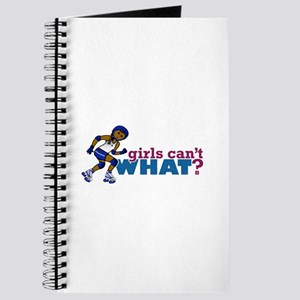 Blue Roller Derby Girl Journal