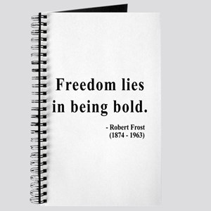 3645a64c0fcc Robert Frost Quote Notebooks - CafePress