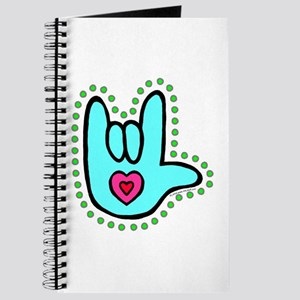 Aqua Bold Love Hand Journal