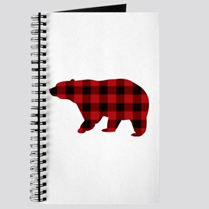 lumberjack buffalo plaid Bear Journal