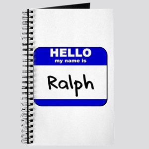 hello my name is ralph Journal