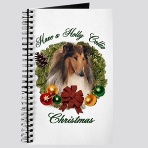 Holly Collie Christmas Journal