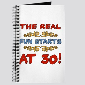 Real Fun 30th Birthday Journal
