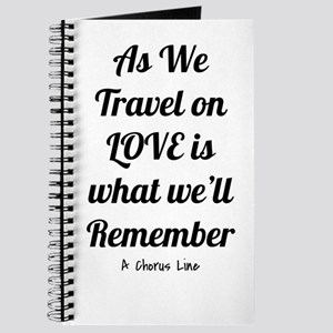 Love's what we'll remember- A Chorus Line Journal