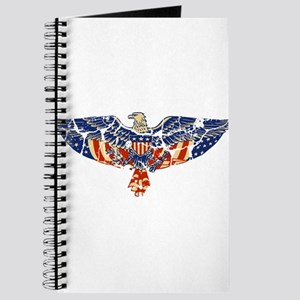 Retro Eagle and USA Flag Journal