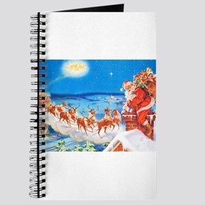 Santa Claus Up On The Rooftop Journal