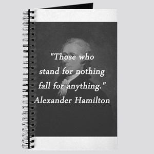 Hamilton - Stand for Nothing Journal