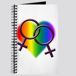 Gay Pride Rainbow Lesbian Love Journal