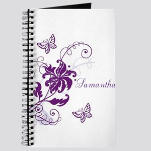 Purple Butterflies and Vines Journal