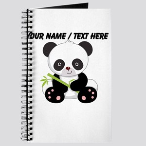 Custom Panda With Bamboo Journal