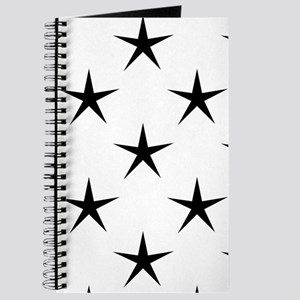 White and Black Star Pattern Journal