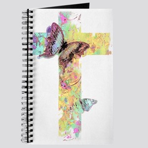 Pastel floral cross and butterflies Journal