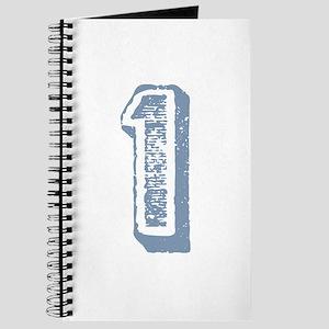 Blue Number 1 Birthday Journal