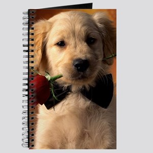 Cute Puppy With Rose Journal