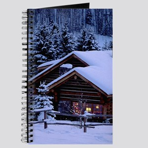 Log Cabin During Christmas Journal
