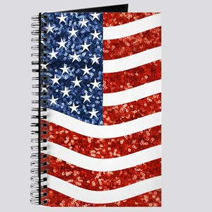 sequin american flag Journal