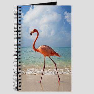 Flamingo On The Beach Journal