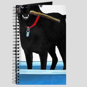 Black Labrador Retriever in kiddie pool Journal