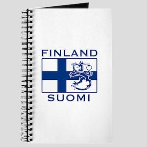 Finland Suomi Flag Journal