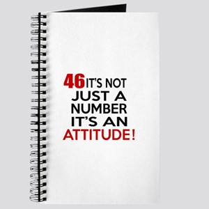 46 It Is Not Just a Number Birthday Design Journal