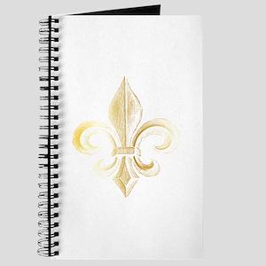 Gold Fleur De Lis Journal
